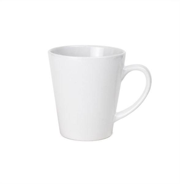White Ceramic Sublimation Latte Mug - 12oz.